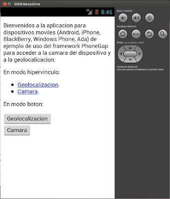 Desarrollar App Android con PhoneGap y Eclipse con manejo de cámara de fotos y geolocalización