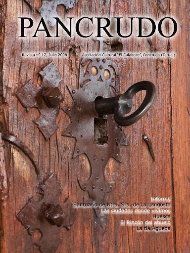 Portada Revista Pancrudo nº12 (2008). Puerta y llave de la ermita de La Langosta (Pascual Tolosa Sancho)