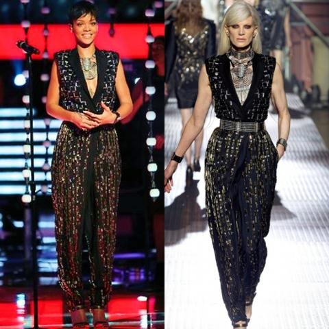 Rihanna in Spring 2013 Lanvin