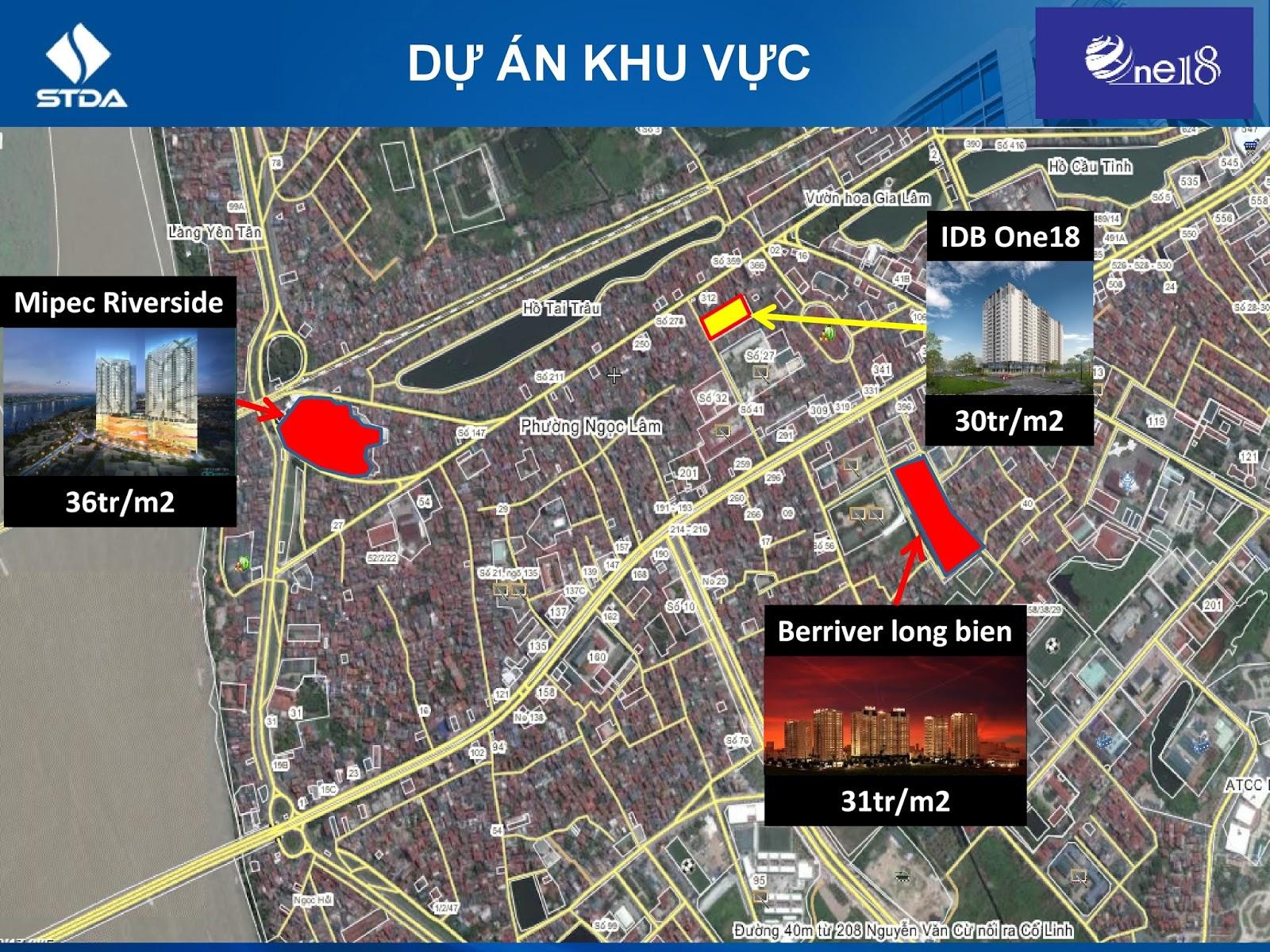 Các dự án lớn vây quanh One 18 Long Biên