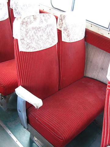 三菱南大夕張鉄道 旧南大夕張駅跡 旧三菱鉱業バス(美鉄バス) 三菱MAR470 シート