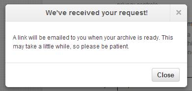 ダウンロード用ページのリンクをメールで送りましたよ