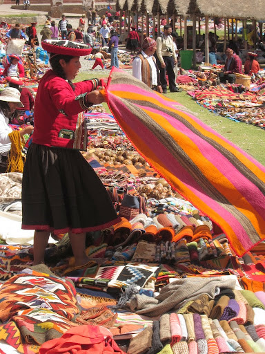 Market day in Chincero, Peru