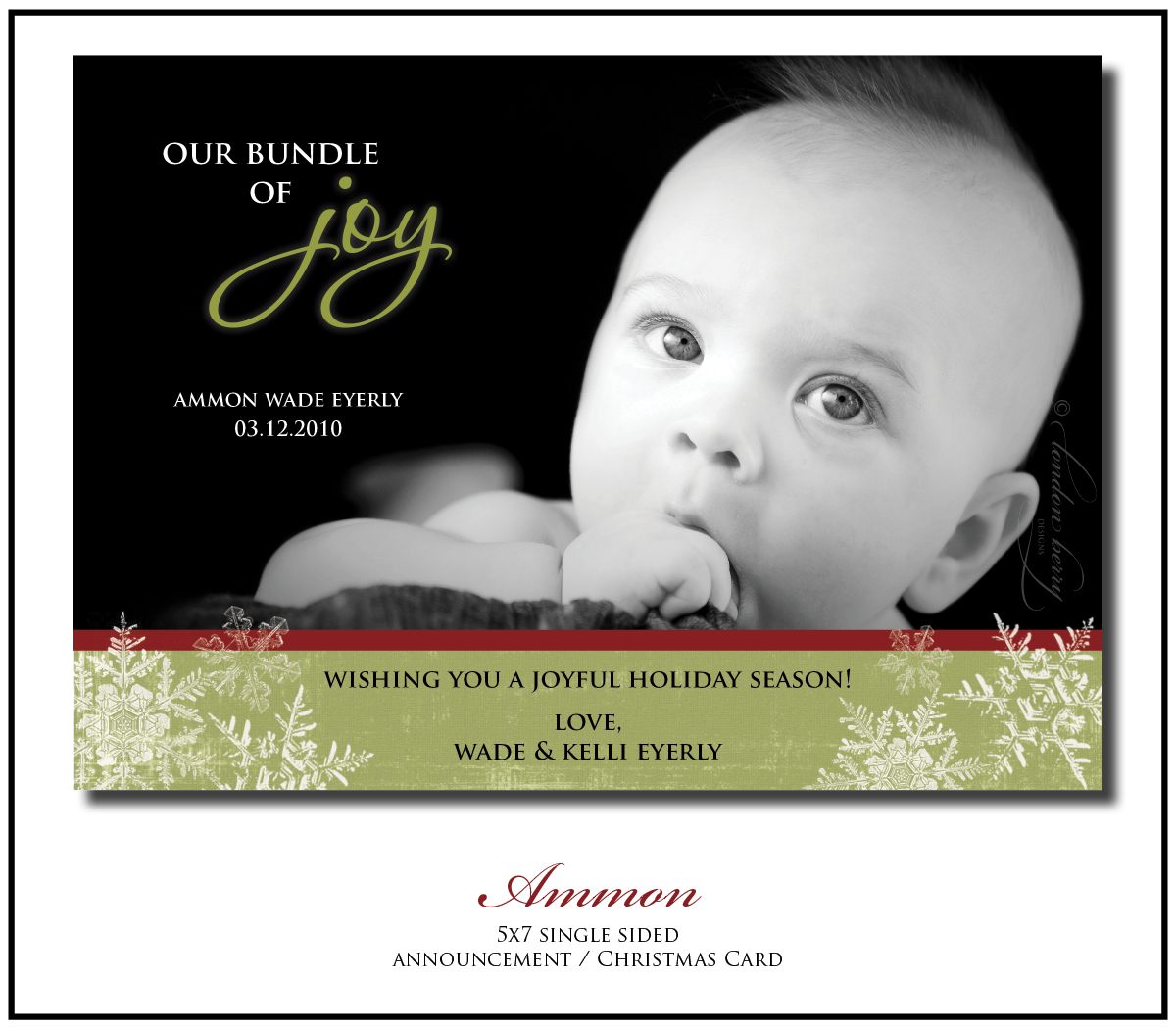 London Berry Designs: Ammon {Baby Announcement & Christmas Card}