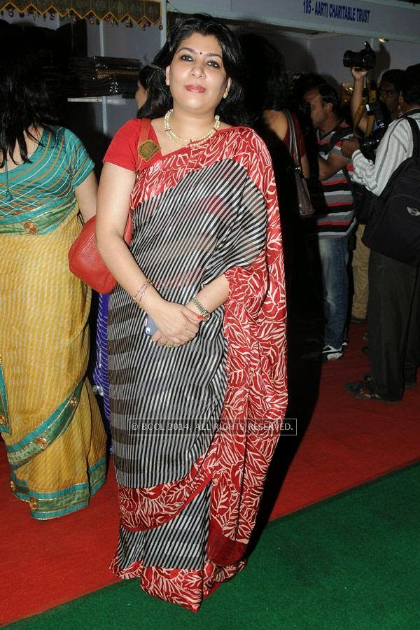 Madhu Jain during a lifestyle exhibition, held in the city.