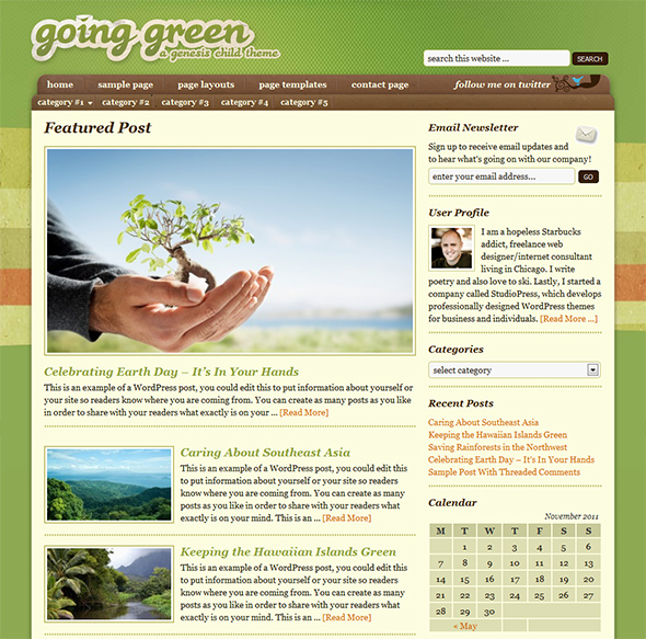 Going Green Eco WordPress Theme