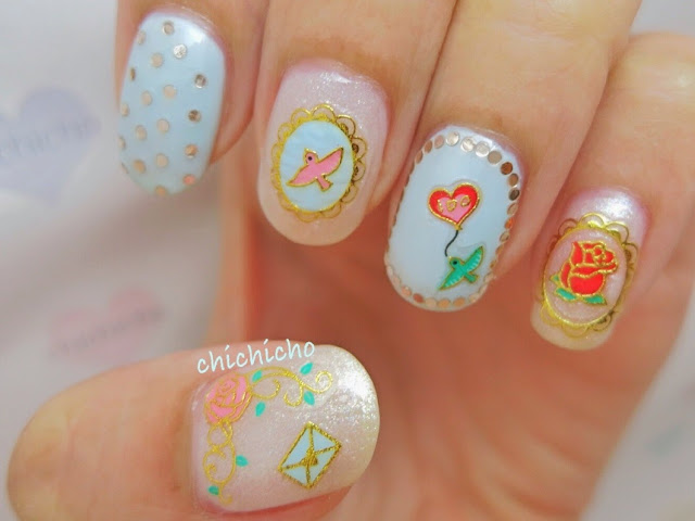 Love Message Nail Art Sticker Design