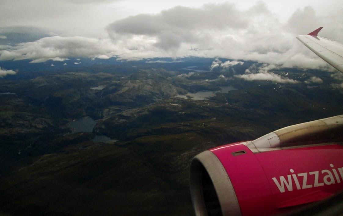 Norwegia z samolotu