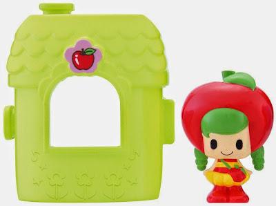 Đồ chơi Koeda-chan KF-03 Ngôi nhà mini cùng búp bê Koringo có chiếc đầu mang hình dáng của trái táo đỏ