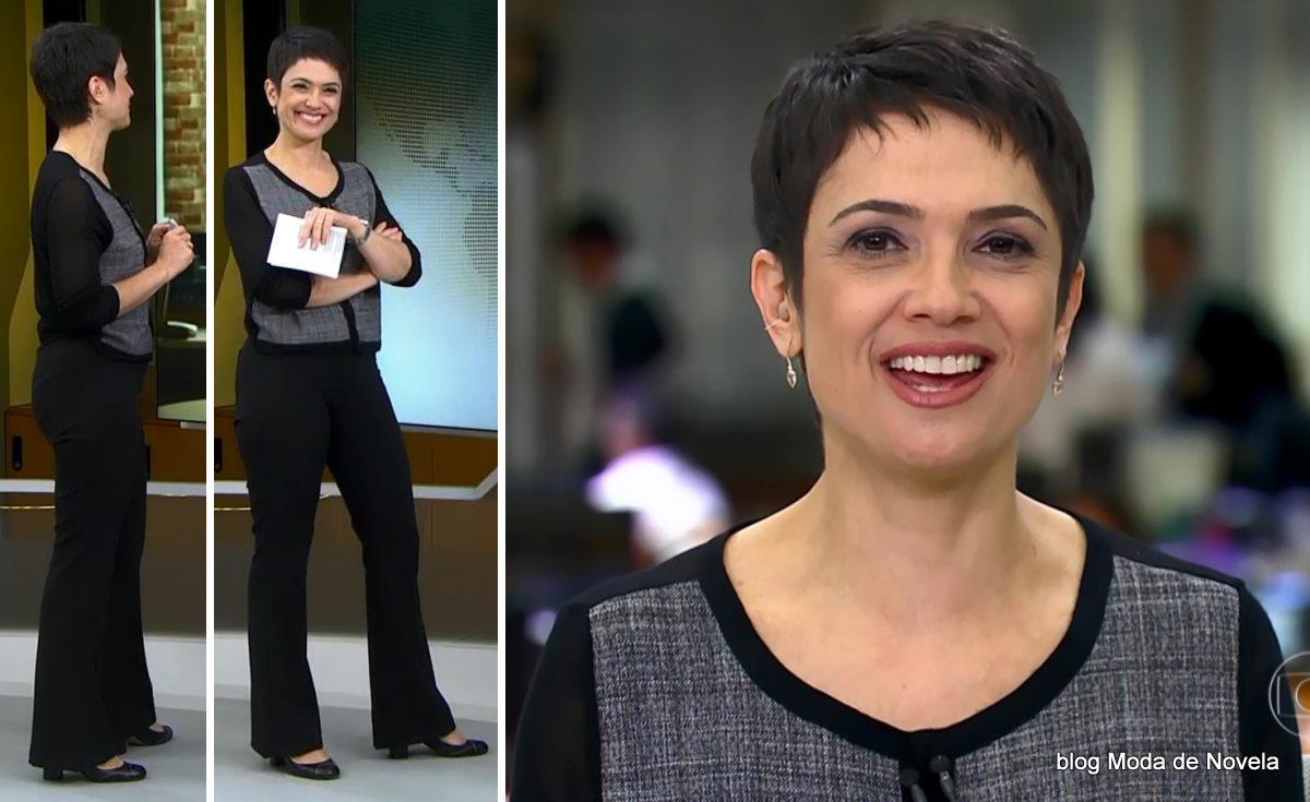 moda do programa Jornal Hoje - look da Sandra Annenberg dia 10 de junho