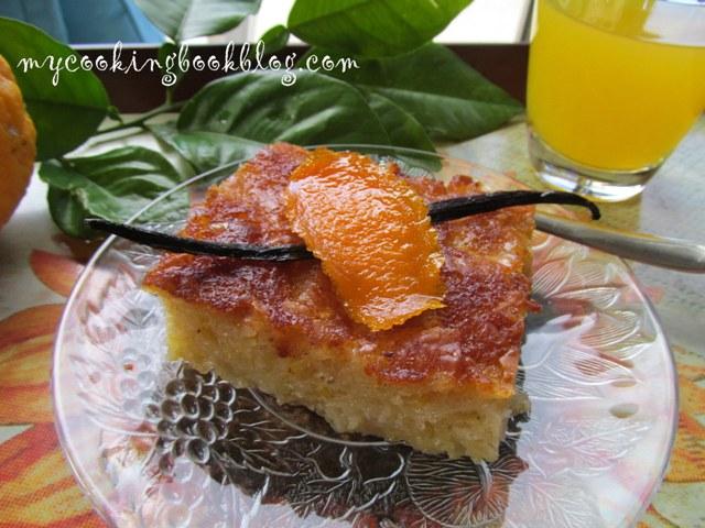 Портокалопита (Πορτοκαλόπιτα) или сиропиран портокалов десерт
