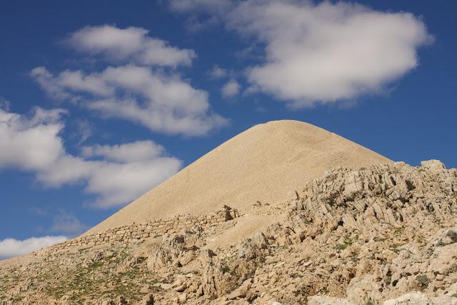 the top of Mount Nemrut