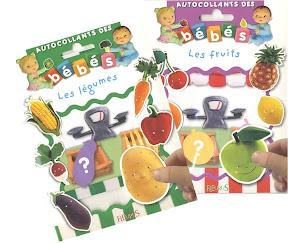 autocollants-des-bébés-fleururs-fruits-légumes