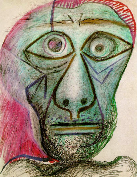 Pablo Picasso - Self Portrait Facing Death 1972