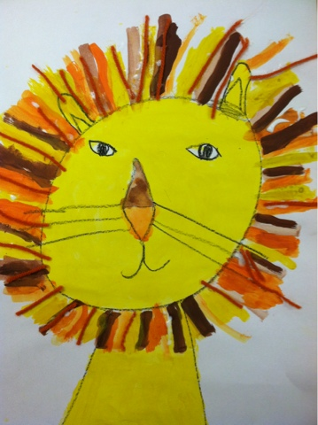 we heart art: My Kindergartners Aren't LION