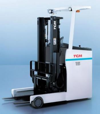 Xe nâng điện đứng lái TCM 2 tấn Nhật Bản