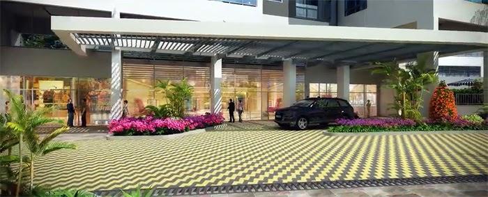 Căn hộ Green Valley với thiết kế sảnh chờ sang trọng, phong cách kiến trúc hiện đại