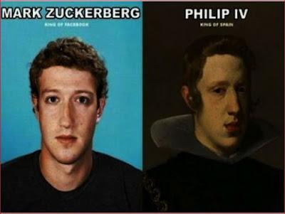 Separados à nascença: Mark Zuckerberg e D. Filipe IV de Espanha