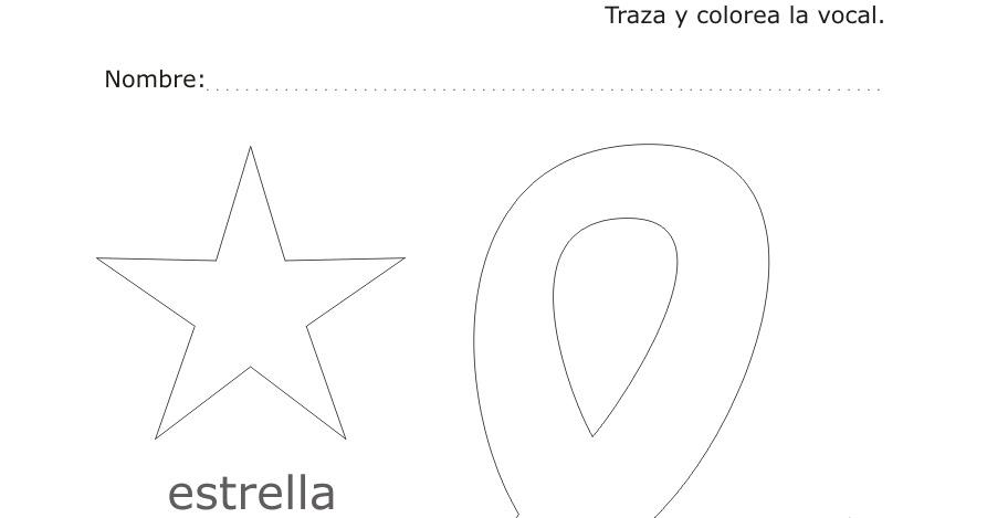 Dibujos Para Colorear Y Trazar Trazar Y Colorear La Vocal E De