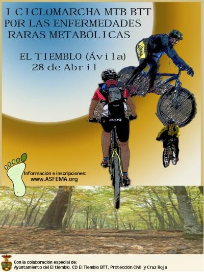 I Ciclomarcha BTT a favor de las enfermedades raras metabólicas - El Tiemblo - 28 abril