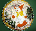 Омлетный торт «Новогодний»