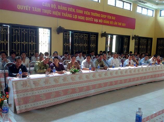 Đoàn cán bộ cấp cao tỉnh Viêng Chăn thăm Trường Cao đẳng Sư phạm Yên Bái