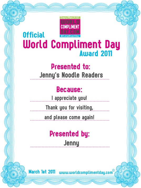World Compliment Day, March 1