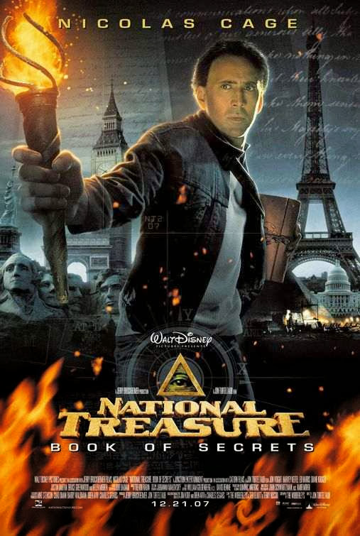 Poster Of National Treasure: Book of Secrets (2007) Full Movie Hindi Dubbed Free Download Watch Online At Alldownloads4u.Com