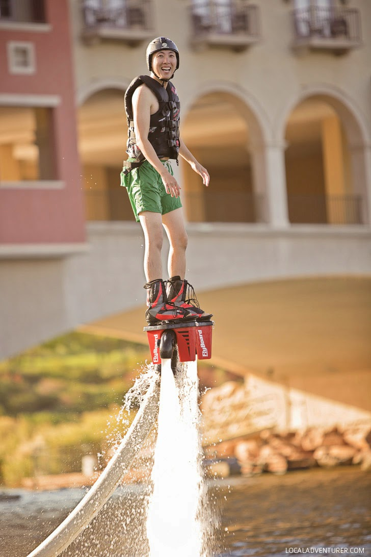 Flyboard Las Vegas at Lake Las Vegas //  What to do in Las Vegas with Kids.