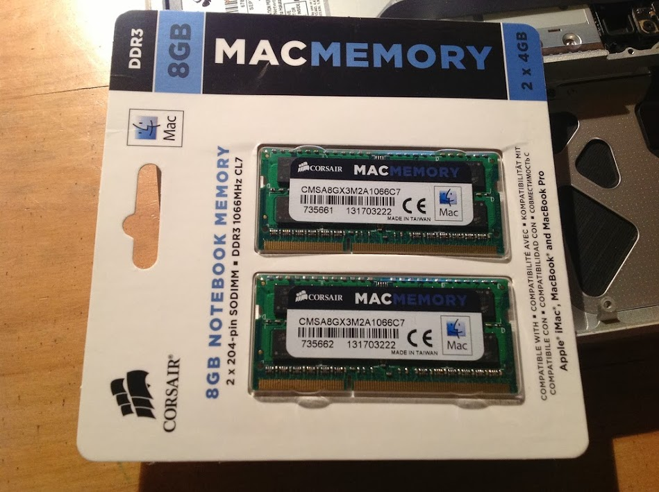 8 Гб оперативки для работы на Macbook