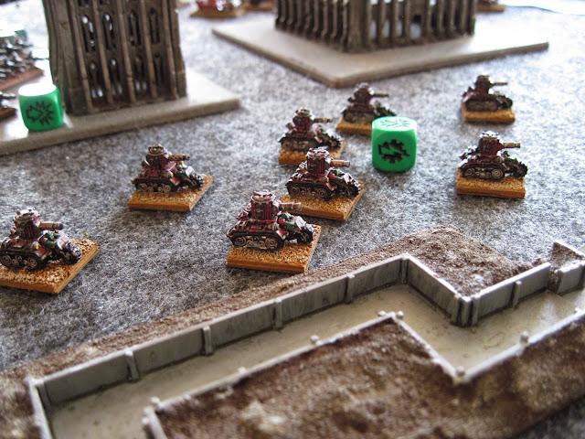Skochas hitting the trenches.