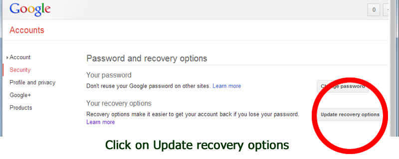 recovery email account of your gmail account - with dorsetdog dot com
