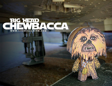 Big Head Chewbacca Paper Toy