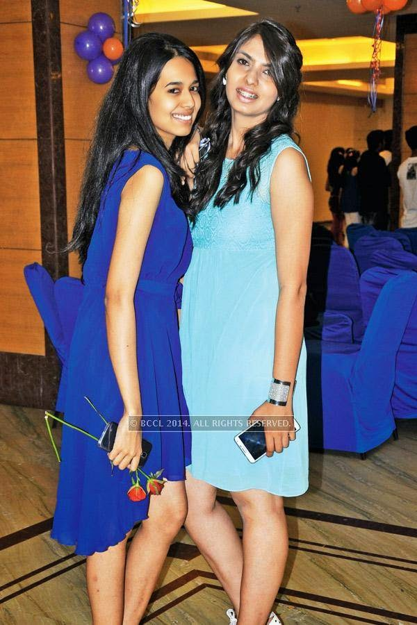 Aishwarya and Nirali during a cartoon-themed party organised by Modern Dental College and Research Centre, in Indore.