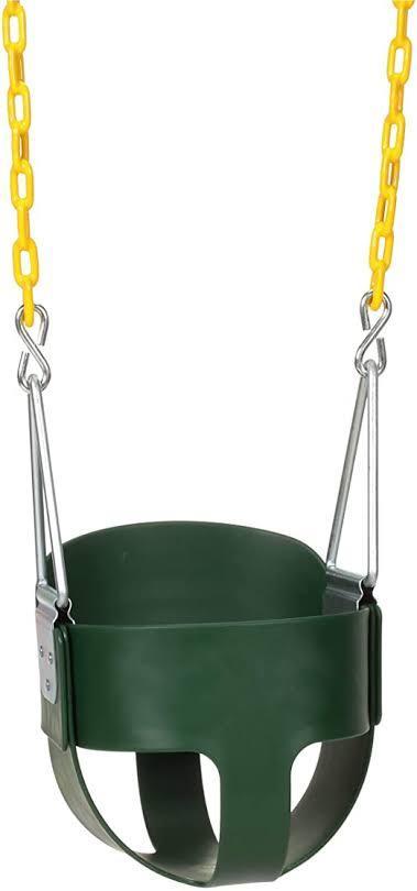 High Back Full Bucket Toddler Swing