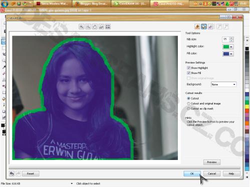 Informasi Teknologi Cara 2 Memisahkan Memotong Background Gambar Di Corel Draw