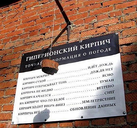 Гиперионский кирпич - русскоязычная локализация Johns Weather Forecasting Stone