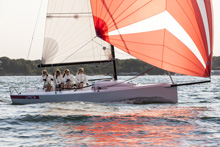 J/70 sailing with all-women crew