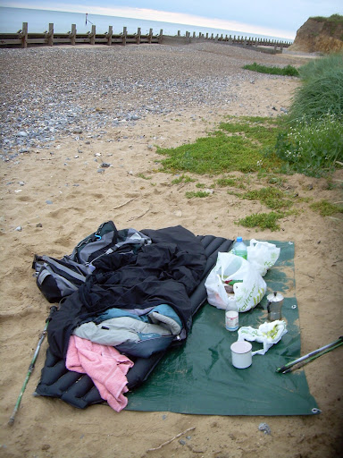 Wild camp, near Mundesley