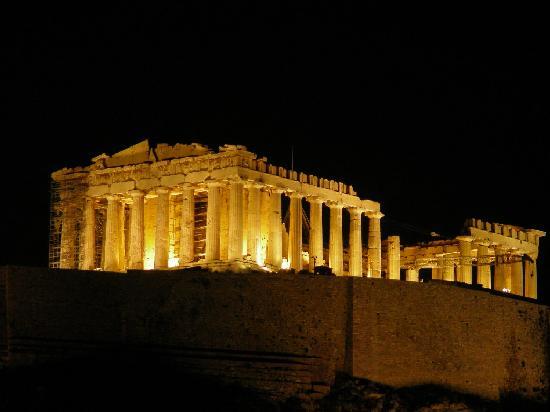 Art 4 Logic Parthenon At Night Photo