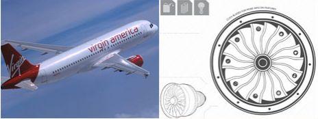 Nuevos Motores Eficientes para Aviones de Virgin America