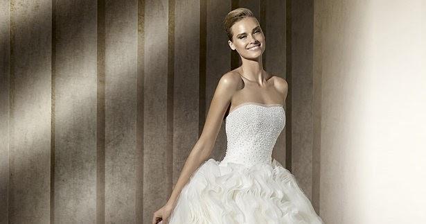 flauschig und trägerlose Kleider , 2013 Brautkleid