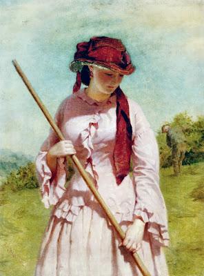 George Elgar Hicks - The Farmers Daughter