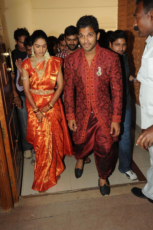 allu arjun wedding reception gallery telugu young superstar allu arjun ...
