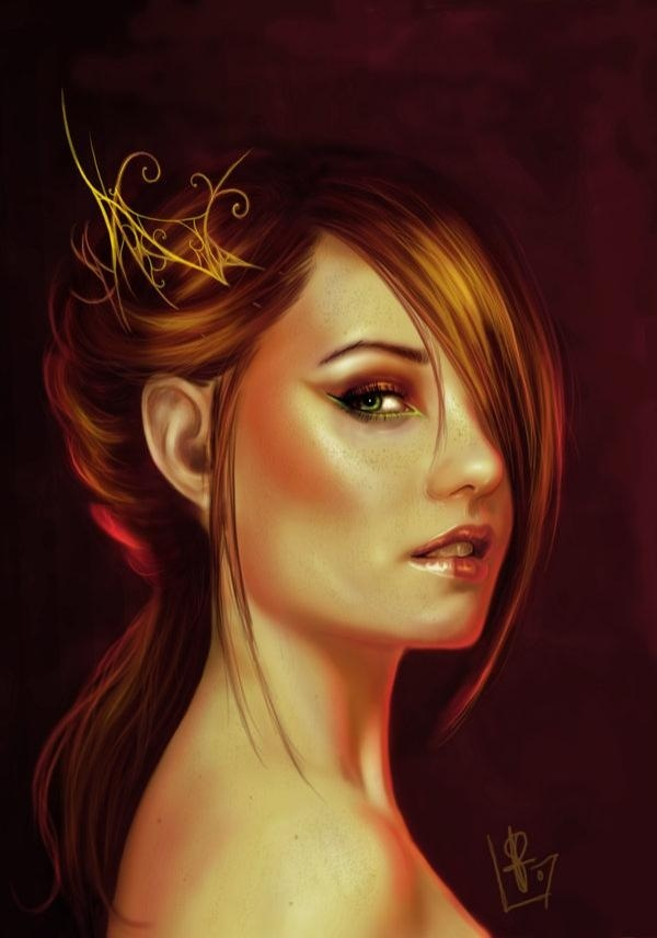 ilustrações realistas de rostos