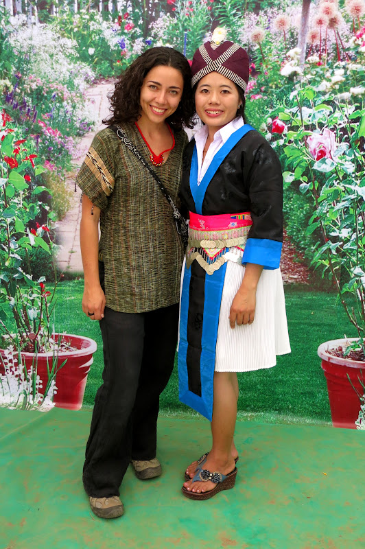Alicia with Hmong girl