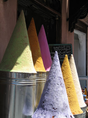 Dye cones in Marrakech Morocco