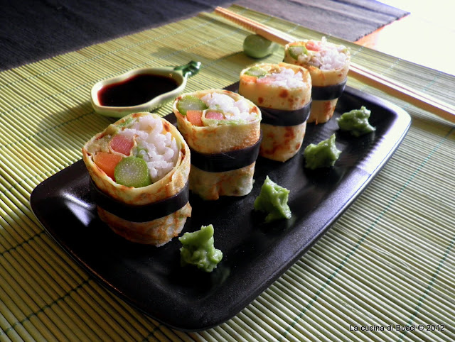 Sushi crêpes