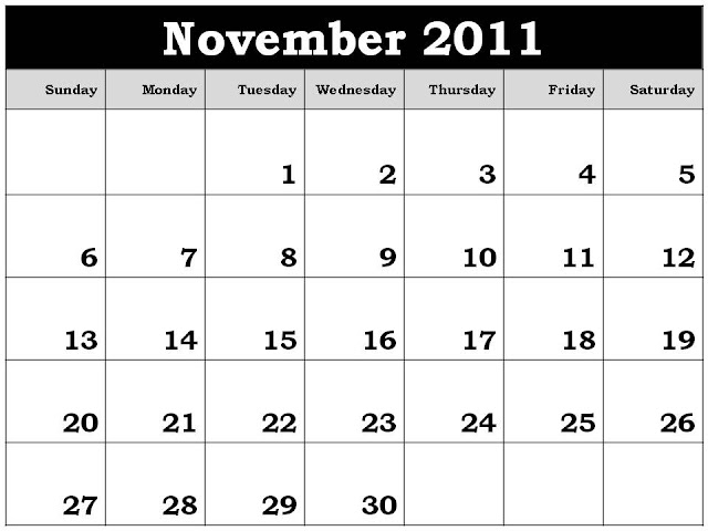 blank calendar 2011. lank calendar 2011 to print.