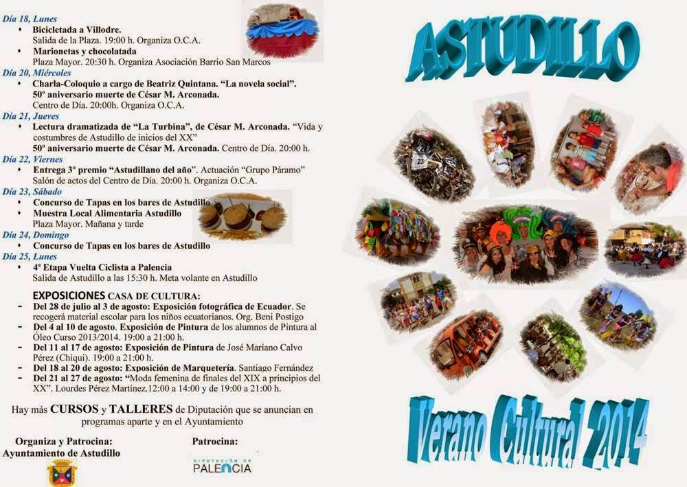 Actividades Verano Cultural en Astudillo - Julio agosto 2014